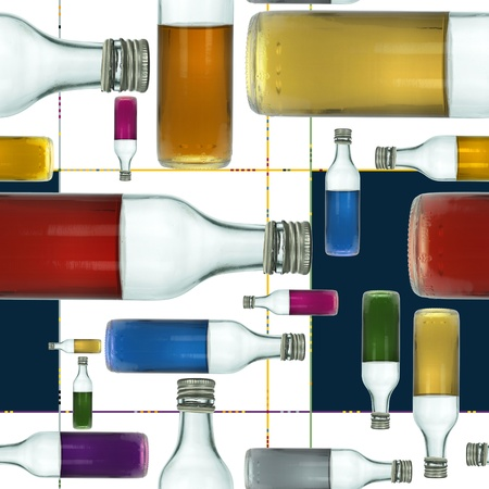 jazzy: Little Colorful Bottles Seamless Tile Abstract Pattern