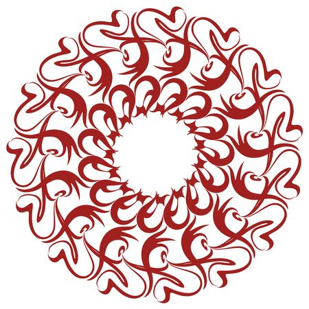 Laced Rosette Ornament Stock Vector - 16598796