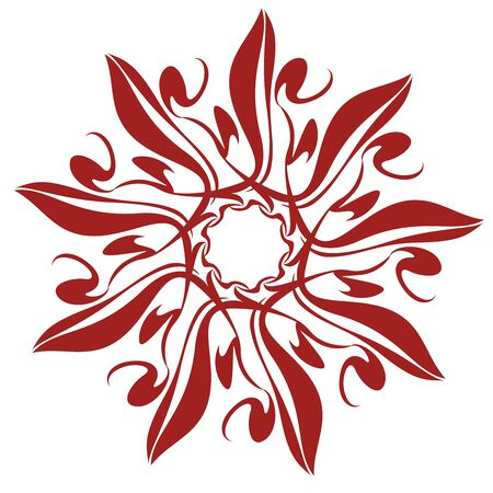 cutwork: Decorative Flower Pattern Illustration