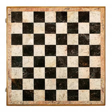 checkerboard: Old Decorative Chessboard