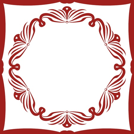 romanesque: Chraming Decorative Frame  out of Squared and Round Ornament