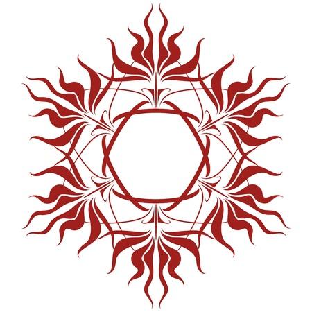 alquimia: Sublime y Wild Flower Magical Corolla Vectores