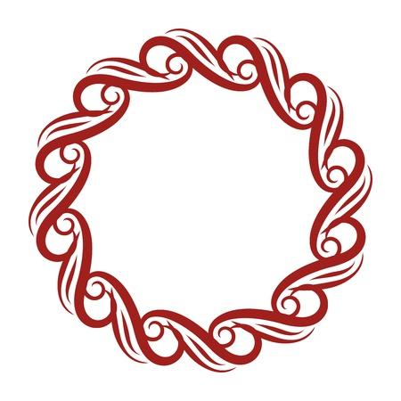 romanesque: Decorative Curly Round Frame