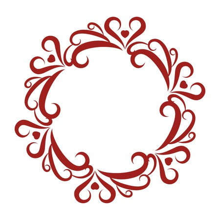 Curly Round Frame Stock Vector - 17758074