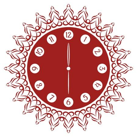 analog dial: Decorative Rustic and  Flamboyant Clock Face