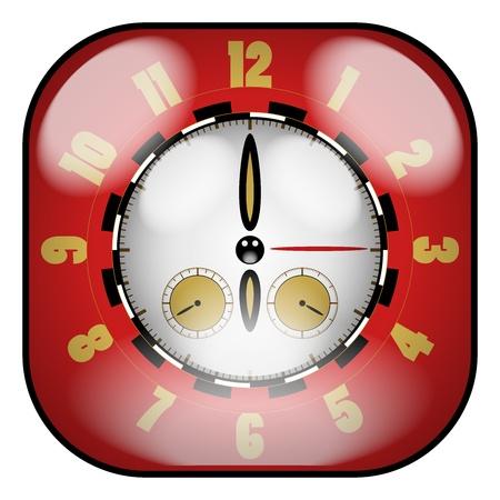 chronometer: Creative Design Clock  With Chronometer