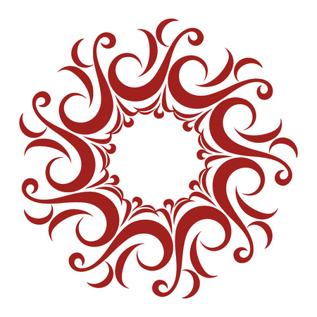 Curly and Wavy Round Lace Vector