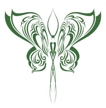butterfly  angel: Decorative Butterfly Tribal