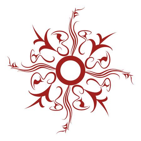 starshine: Star-shine Rosette Tattoo Illustration