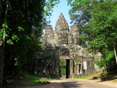 Gate of Angkor Thom photo