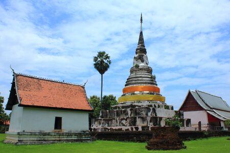 bu: Pagoda of Wat Sa Vang Ka Bu Ree  Stock Photo