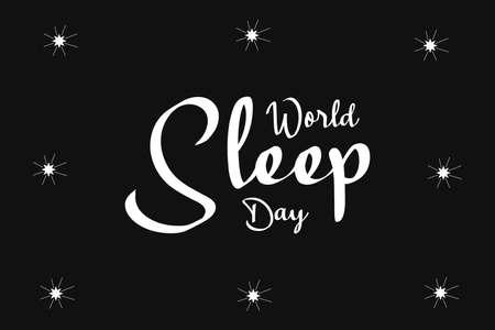 World Sleep Day Vector Design Illustration. Sleeping poster, banner, t-shirt typography design.
