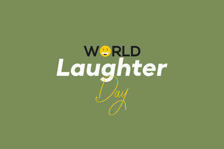 World Laughter day vector background design. Smile emotion and typography text. Smile and happy symbol Poster and t-shirt design.
