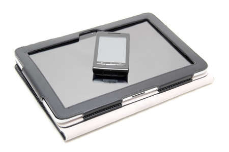 tablet PC and touchscreen smartphone photo