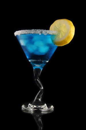 blue martini drink photo