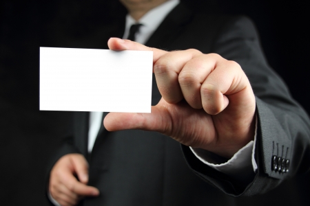 show cards: business card with copy space