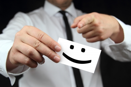 smile business card photo