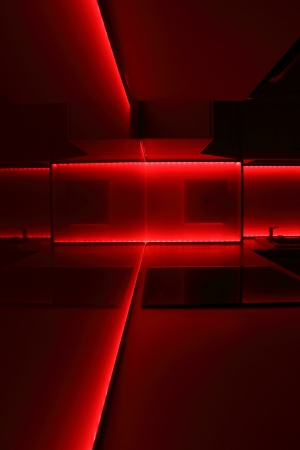 modern luxury kitchen with red led lighting  Stock Photo - 14700554