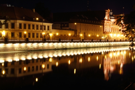 Oder River at night, Wroclaw, Poland Stock Photo - 15554949