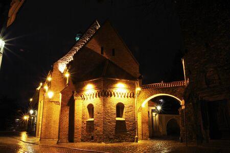 Ostrow tumski at night, Wroclaw, Poland Stock Photo - 15554964