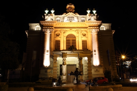 Puppet Theatre in Wroclaw at night, Poland Stock Photo - 15724263