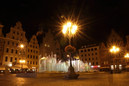 Wroclaw at night, Poland Stock Photo - 15724264