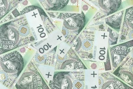 polish banknotes, money background 写真素材