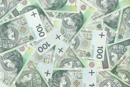polish banknotes, money background Stock Photo