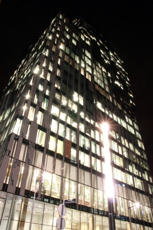 office buildings in Amsterdam at night, the Netherlands Stock Photo - 17228654