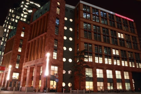 office buildings in Amsterdam at night, the Netherlands Stock Photo - 17228655