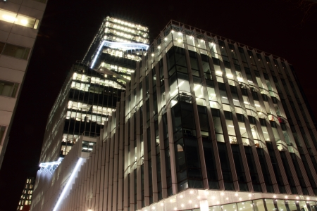 office buildings in Amsterdam at night, the Netherlands Stock Photo - 17228649