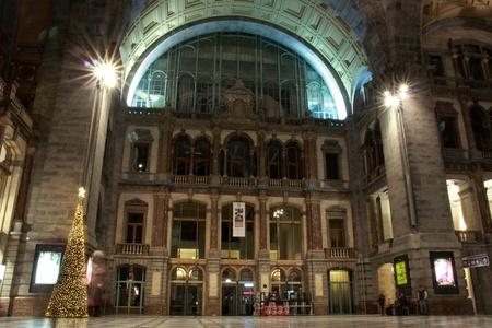 old beautiful railway station in Antwerp, Belgium Stock Photo - 17228661
