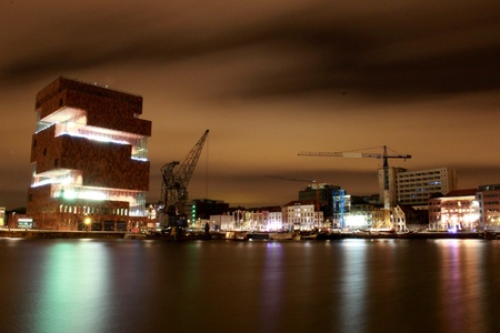 Antwerp at night, Belgium