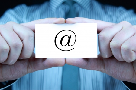 contact - business card Stock Photo - 17344677