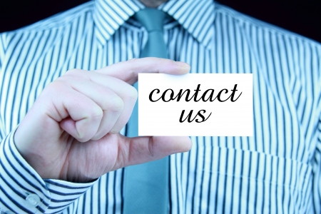 contact us - business card Stock Photo - 17344652