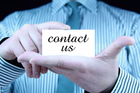 contact us - business card Stock Photo - 17344637
