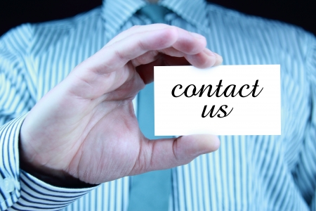 contact us - business card Stock Photo - 17344682