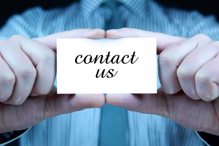 contact us - business card Stock Photo - 17344679