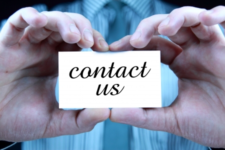 contact us - business card Stock Photo - 17344654