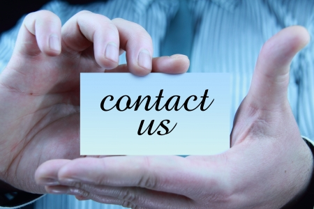 contact us - business card Stock Photo - 17344681