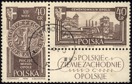 POLAND - CIRCA 1961 A stamp printed in POLAND, shows Polish Western Territories, circa 1961 Stock Photo - 18080058