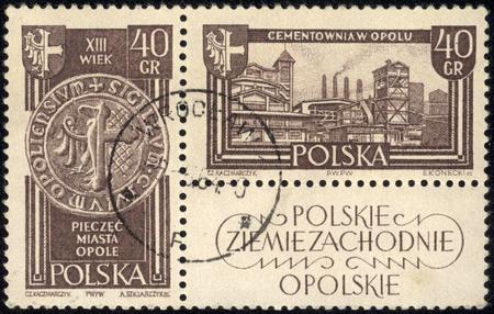 POLAND - CIRCA 1961 A stamp printed in POLAND, shows Polish Western Territories, circa 1961 Stock Photo - 18080058
