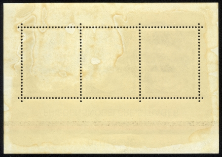 unstuck: old blank postage stamp