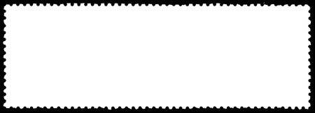 postage stamp: blank postage stamp Stock Photo