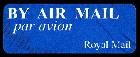 avion: by air mail - par avion  international mail tag set  stamp sheet
