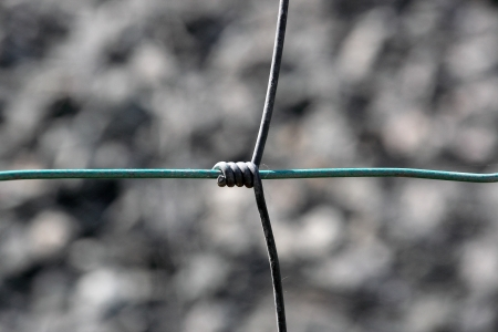 Barbed wire background photo
