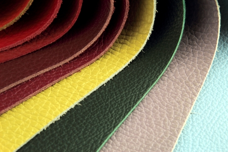 picker: Color palette sample picker of leather material