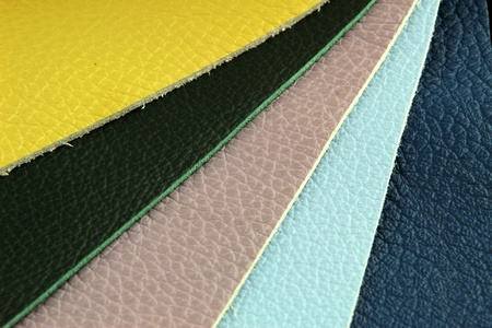settee: Color palette sample picker of leather material