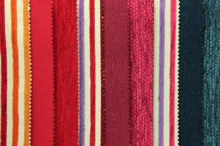 Canvas upholstery samples in various colors photo