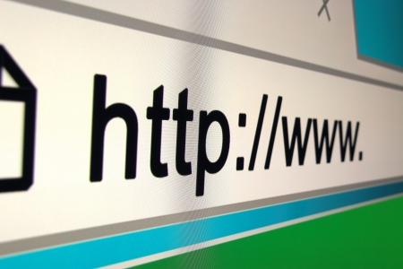 http  www: http www browser bar, Internet address Stock Photo
